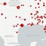 Karte zu Massenschießereien