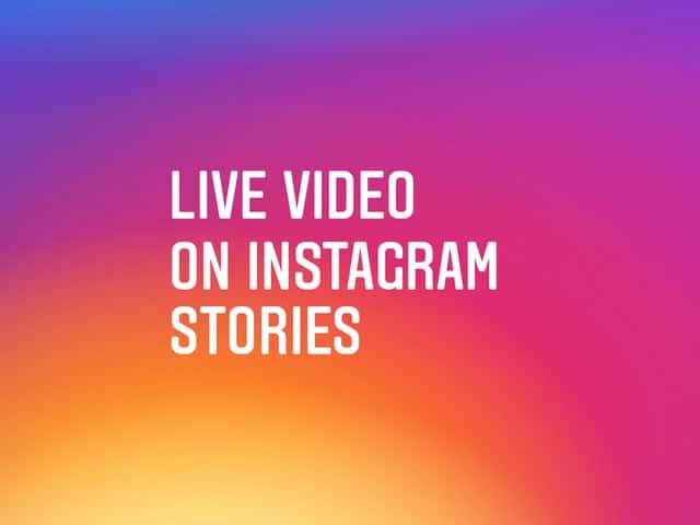 flüchtige Privatnachrichten und Live-Videos