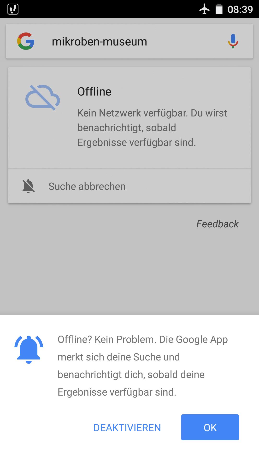 Offline-Suche unter Android