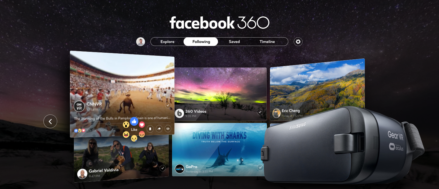 Facebooks 360-Grad-Inhalte auf der Gear VR